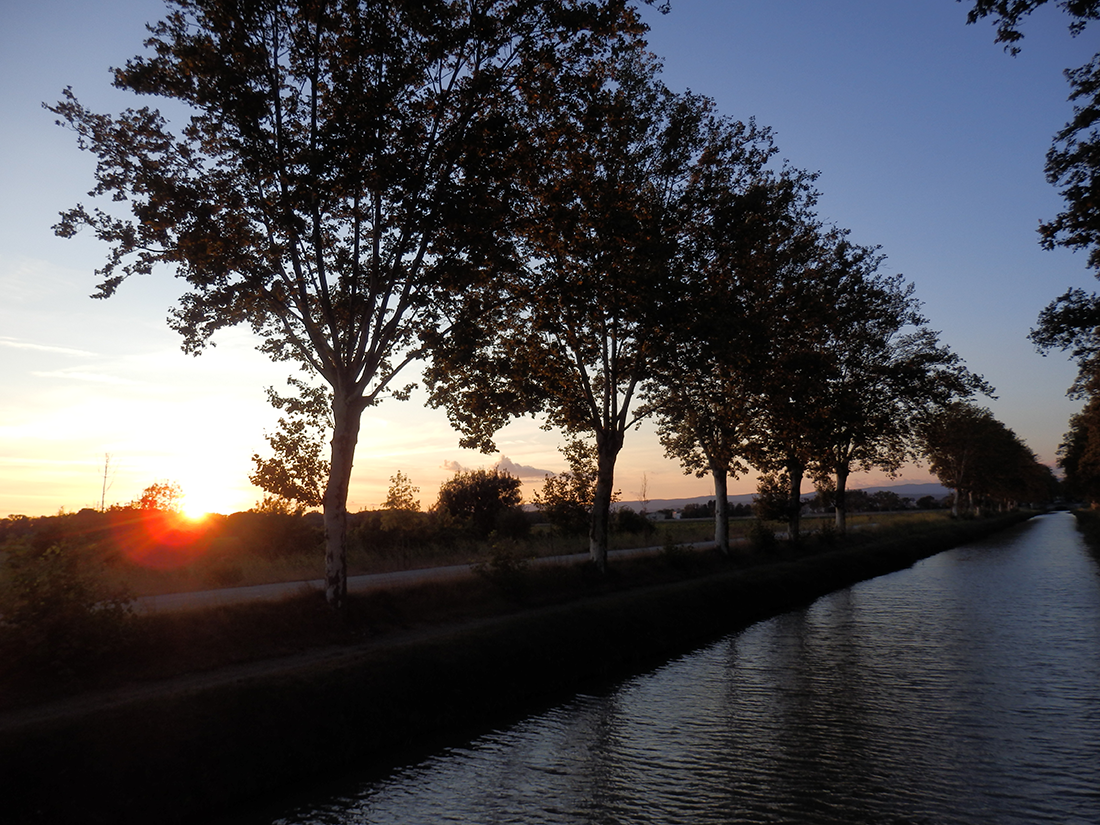 Sunset over Canal du Midi