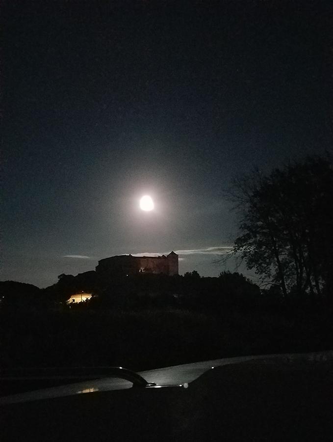 moon over Canal du Midi