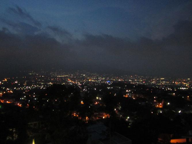 San Salvador at night